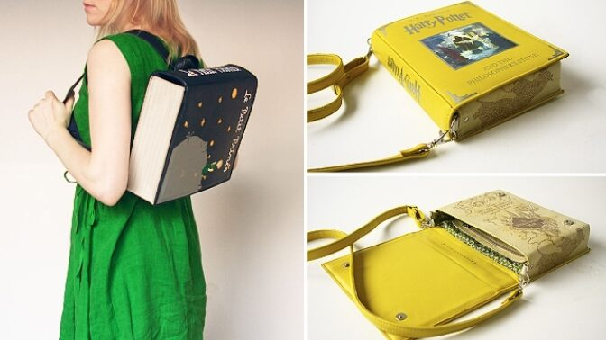 Bystřete smysly, knihomolové! V prodeji jsou tyto kouzelné kabelky a brašny ve tvaru oblíbených knih