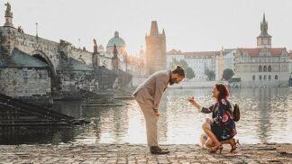 Tato žena plánovala žádost o ruku v Praze 2 roky. Příběh zásnubního prstenu je ale snad ještě romantičtější