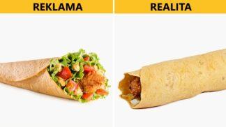 Reklama vs. skutečnost: Jak vypadají produkty fastfoodů v reálu?