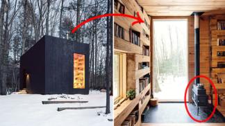 Tato lesní knihovna s kamny je rájem každého vášnivého čtenáře