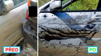 Tento muž opravil své nabourané auto opravdu kreativním způsobem