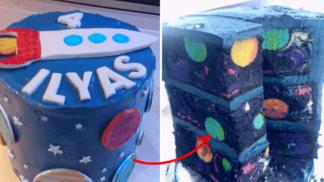 V tomto narozeninovém dortu je ukrytý celý vesmír