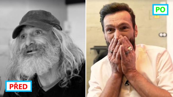 Neuvěřitelná proměna bezdomovce, která obletěla svět. Nyní mu říkají George Clooney