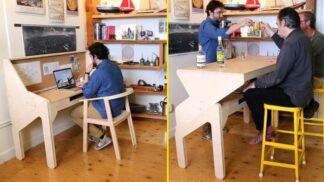 Z pracovního stolu bar. Kalifornský designér to dokáže jedním tahem