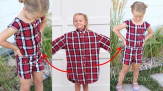 Ze starých košil úchvatné dětské outfity! Američanka (27) šije proti plýtvání i poporodním depresím