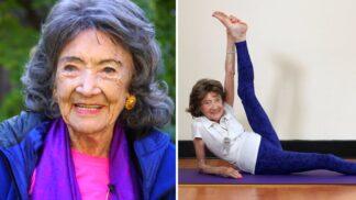 Je jí 99 let a vypadá jako hollywoodská múza. Nejstarší lektorka jógy prozradila své tajemství dlouhověkosti # Thumbnail