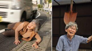 Nechá se srazit autem. A je u toho vysmátá na celé kolo! Selfíčka japonské babičky (89) dobývají svět