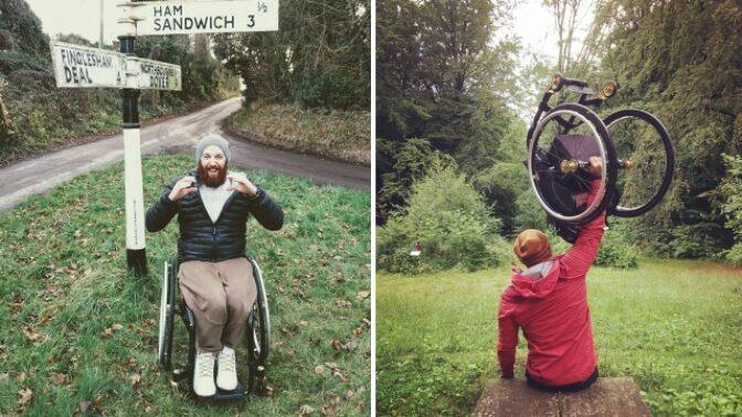 Seznamte se s vozíčkářem, který provandroval půlku světa a spí pod širákem