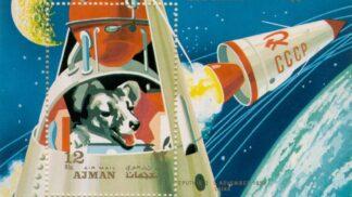Fenka Lajka, nejslavnější pes ve vesmíru. Prvenství jí ale uzmuly mušky octomilky