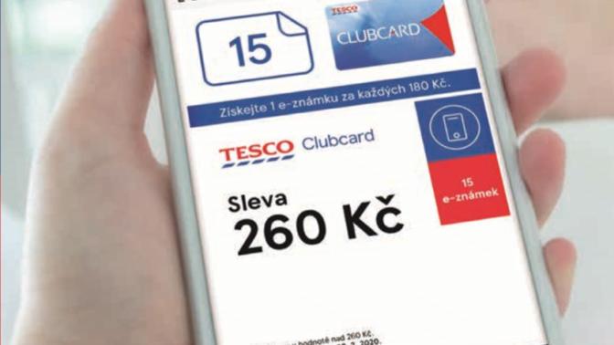 Na mobilní aplikace Tesco Clubcard teď můžete sbírat e-známky