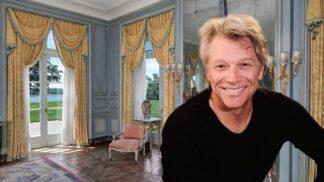 Přepych, až přechází zrak. Zpěvák Jon Bon Jovi prodává svůj zámek, uvnitř má i soukromou hospodu