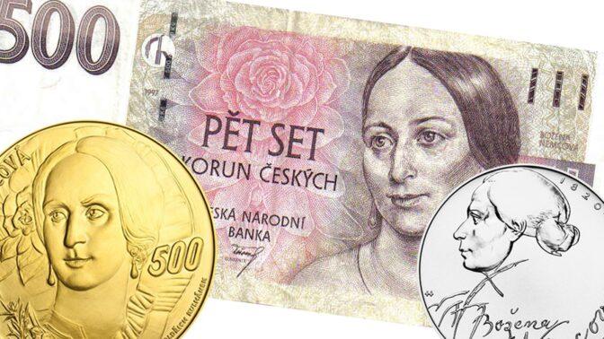 Božena Němcová na bankovkách, mincích a medailích: Nejvzácnější stojí 1,5 milionu, vydělat můžete i na pětistovce
