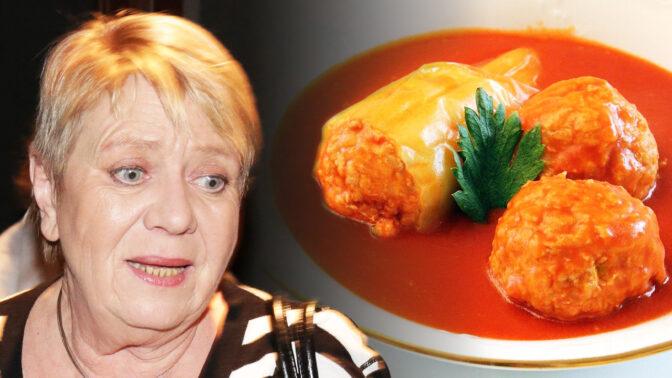 Vášnivá kuchařka Jaroslava Obermaierová se pochlubila receptem na báječné plněné papriky