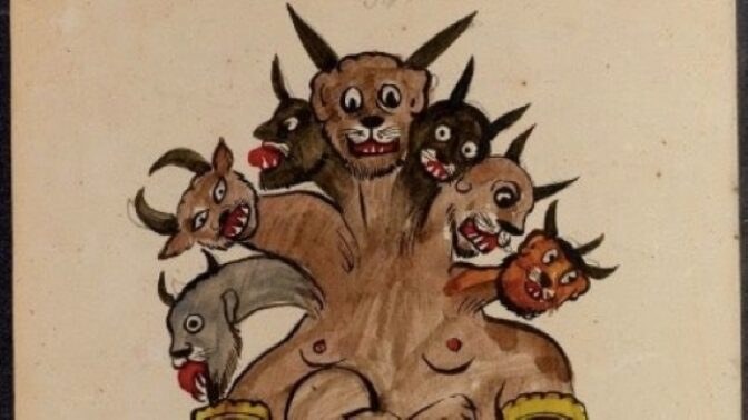 Démonický arabský lexikon: Knihu plnou děsivých maleb našli před sto lety v Persii