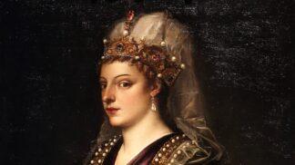 Smutná Kateřina Benátská prodala vlastní království. Když odplouvala z Kypru, nemohla zastavit pláč