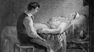 Bizarní historie porodů: Místo léků koňský trus a slepičí srdce uvázané na noze