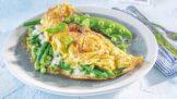 Omeleta s kozím sýrem a fazolkami: Chutná svačinka, která zasytí