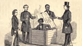 Legendární útěk z otroctví: Henry Box Brown strávil 27 hodin v poštovním balíku