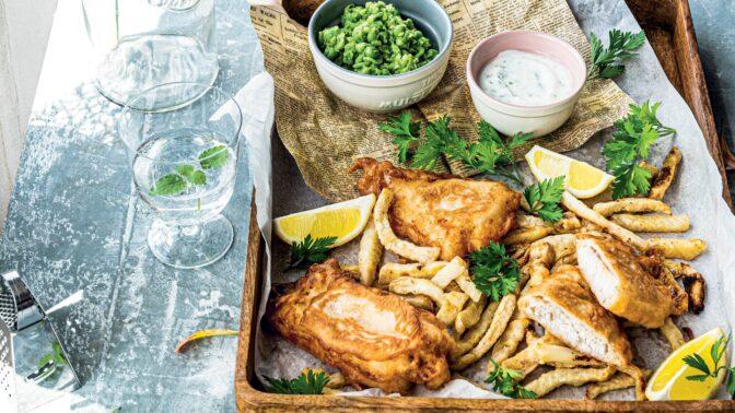 Fish and chips s celerovými hranolky: Klasika anglické kuchyně trochu jinak