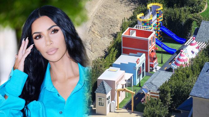 Tomu se říká splněný dětský sen! Kim Kardashian postavila na zahradě svého sídla zábavní park