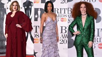 Róby na Brit Awards 2016: Rihanna šokovala elegancí, Adele byla za bohémku