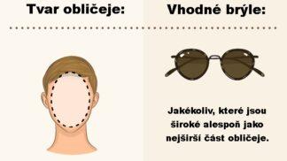 Sluneční brýle dle tvaru obličeje. S tímto průvodcem si vyberete bez zkoušení # Thumbnail
