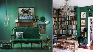 Magnetická barevná inspirace: smaragdově zelená se zlatou rozdmýchá vášně