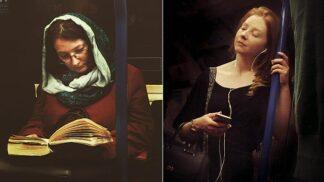 Muž tajně fotí londýnské pasažéry metra. Upravené fotky vypadají jako portréty 16. století