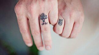 Lebky, psi i čajové lžičky. Podívejte se, za jaká tetování vyměnily páry snubní prstýnek!