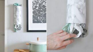 Vyrobte si sami: Nástěnný držák na igelitové tašky # Thumbnail