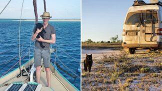 Měl po krk korporátu. Nyní cestuje karavanem po Austrálii se svou kočkou