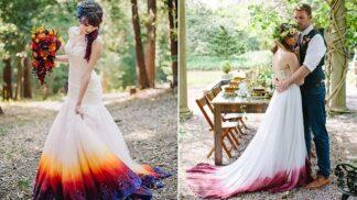 Ombré šaty dobývají srdce nevěst ve světě. A nás to vůbec nepřekvapuje!