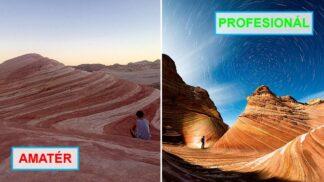 22 fotek z cest, které ilustrují rozdíl mezi tvorbou amatérů a profesionálů