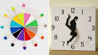 15 úžasných nápadů na výrobu hodin