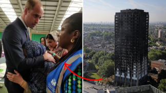 Princ William porušil královský protokol, aby objal jednu z obětí londýnského požáru