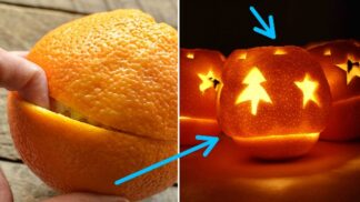 Jak oloupat a sníst pomeranč, aby prsty zůstaly suché, a ještě si ze slupky udělat svíčku
