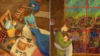 Láska je všude kolem nás. Stačí se dívat srdcem, vzkazuje Korejka po svých kreslených poslech