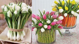 Originální kytice se zeleninou: Vyzdobte si domov neotřelou velikonoční dekorací
