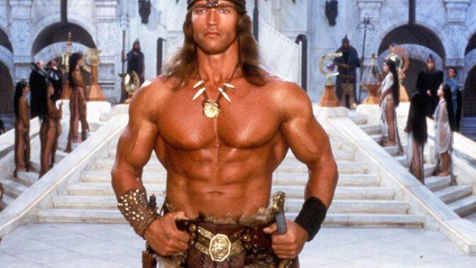 Zajímavosti o filmu Barbar Conan: Schwarzenegger za roli dostal 250 000 dolarů, kostýmy byly vláčeny bahnem